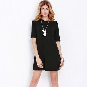 Dresses & Skirts - LAST 2!⭐️💕 Black Elbow Sleeve Casual Dress!